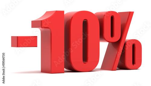 Fototapeta 10 percent discount 3d text obraz
