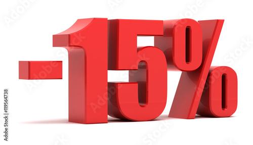 Fototapeta 15 percent discount 3d text obraz