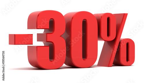 Fotografia 30 percent discount 3d text
