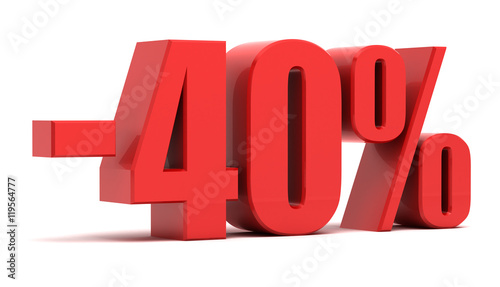 Fotografia  40 percent discount 3d text