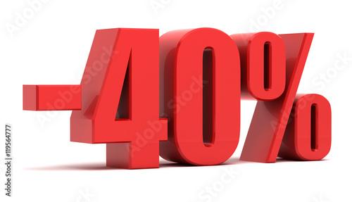 Tela  40 percent discount 3d text