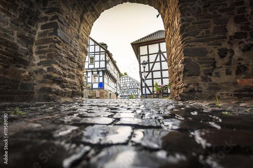 Fotografie, Obraz  Traditional architecture at historic Blankenberg, Germany
