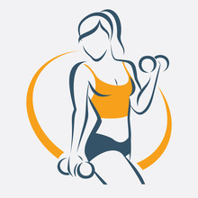 Active Woman Doing Fitness Sym...