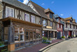canvas print picture - street in Beuvron-en-Auge, France