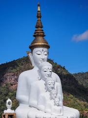 Naklejka Religia i Kultura White buddha in Thailand