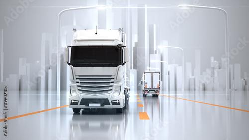 Fotomural  Futuristic Transport