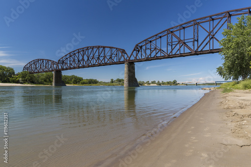 Railroad Bridge Over Missouri River Fototapeta
