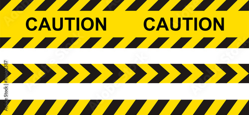 Fotomural  Caution