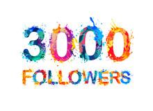 3000 (three Thousand) Followers