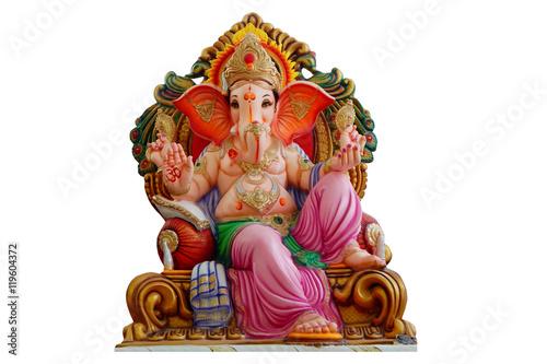 Hindu god Ganesha idol for offering prayers during Ganesha Chathurthi festival