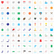 sport line and full icons set, outline and solid vector symbol collection, linear pictogram pack isolated on white for web and mobile, logo illustration