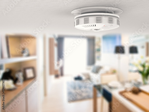 smoke detector on ceiling Canvas Print