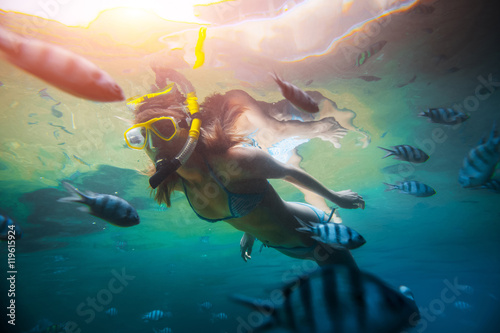 Fotografie, Tablou Lady diver