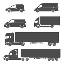 Silhouette Cargo Truck And Van Set