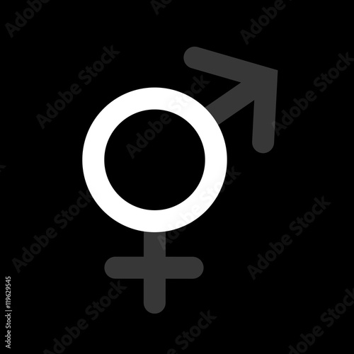 Asexuality Or Intersex Dark And Dull Symbols Of Male And Female