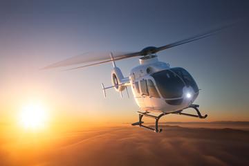Fototapeta Helicopter Sunset Flight 2