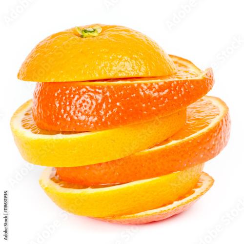 Photo Stands Slices of fruit Orangen