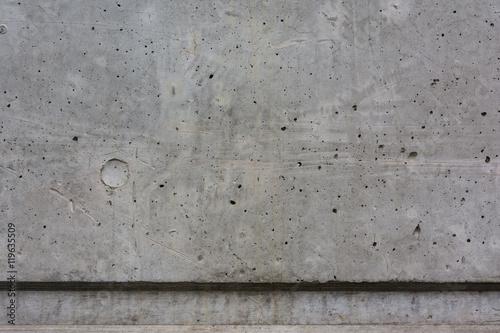 Fotografie, Obraz  Concrete Wall Texture Dent Hole Carved Poured Background Grey