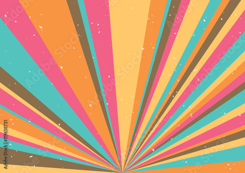 Psychedelic geometric retro background Canvas Print