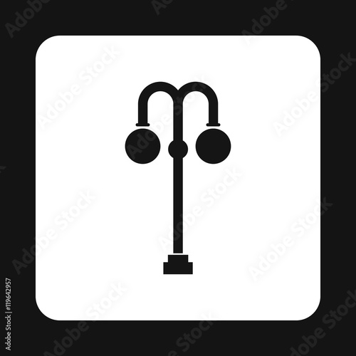 Light Pole Icon In Simple Style On A White Background Buy This