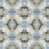 Kalejdoskopie low poly sześciokąt styl mozaika tło wektor - 119645511