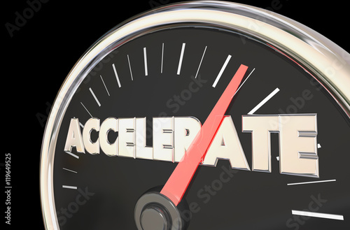 Photo Accelerate Reach Top Level Speedometer 3d Illustration