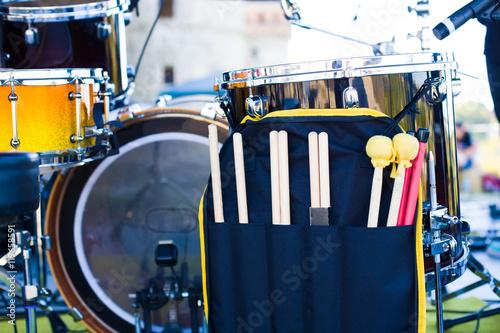 Foto op Canvas Muziekwinkel The drum on the stage.