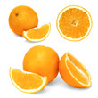 Isolated Collage Collection of Fruit Oranges on a white background