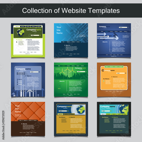 Collection of website templates for your business nine nice and collection of website templates for your business nine nice and simple design templates with different wajeb Images