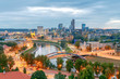 Vilnius. View of the city from the hill of Gediminas.