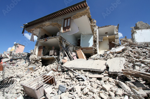 Photo 24/8/2016 - Amatrice - Rieti - Italy - The earthquake that destroyed the histori