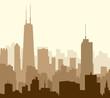 Chicago Morning Skyline-Vector