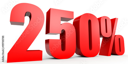 Fotografia  Discount 250 percent off. 3D illustration.