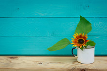 Sunflowers In The Old Cup