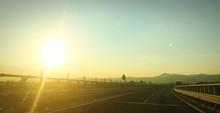 Autostrada Montagna Tramonto