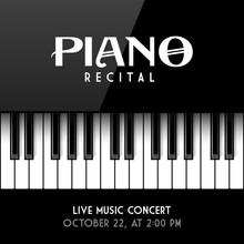 Piano Recital Poster, Leaflet ...