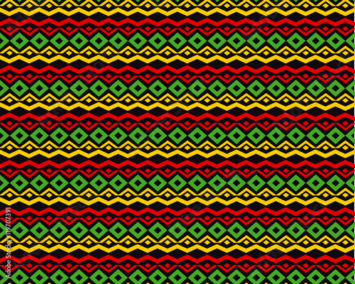Photo classic reggae color music background. Jamaica seamless pattern