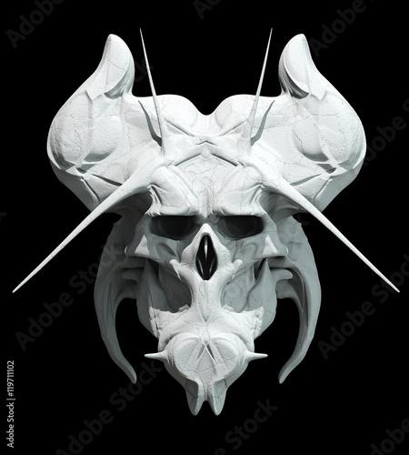 Skull design on a black background for Halloween. Canvas Print