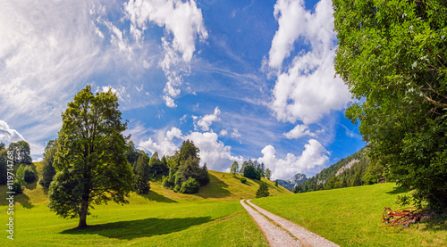 Obraz na plátně Wandern im Simmental, Berner Oberland, Schweiz
