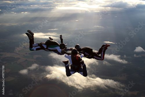 Spoed Fotobehang Luchtsport Skydiving in Norway