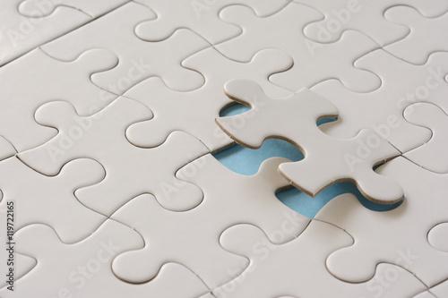 Fotografie, Obraz  ジグソーパズル 水色背景