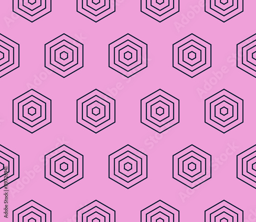 Photo Stands Psychedelic abstract hexogonal seamless pattern. purple color. vector