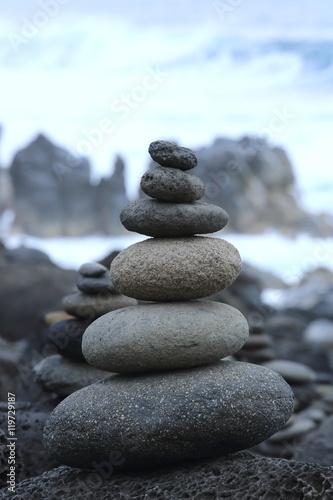 Fotografia, Obraz  galet sur la plage