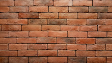 Red Brick Wall With Water Drops