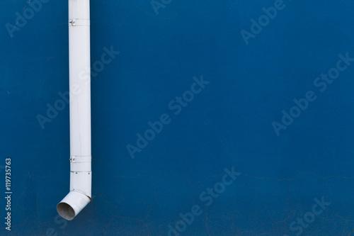 Valokuva  White drainpipe