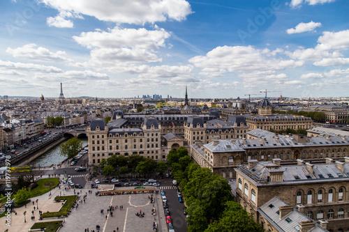 Poster de jardin Paris Vista da Notre Dame