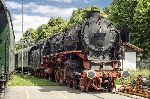 Photo  Alte Dampflokomotive Bahnpark Augsburg