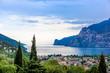 View of Riva Del Garda and Lake Garda, Lombardy, Italy