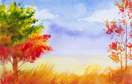 autumn-landscape-watercolor-i
