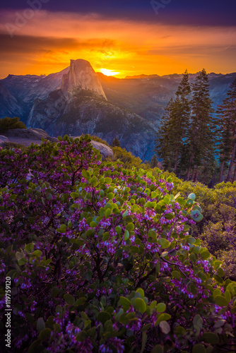 Yosemite National Park Sunrise Glacier Point Canvas-taulu